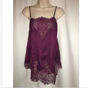 Victoria's Secret XS Sleep Cami Chemise Plum NWOT
